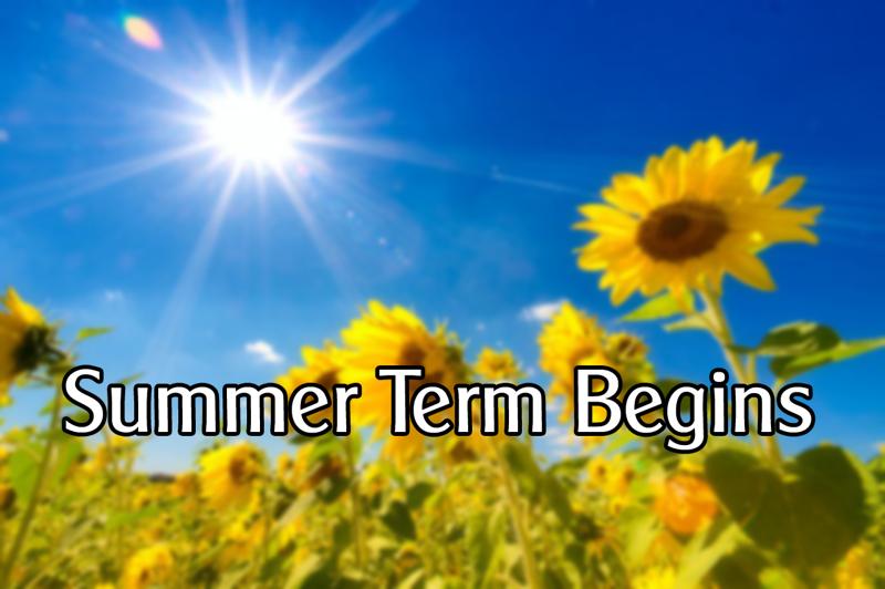 Summer term begins!   Park Community Academy