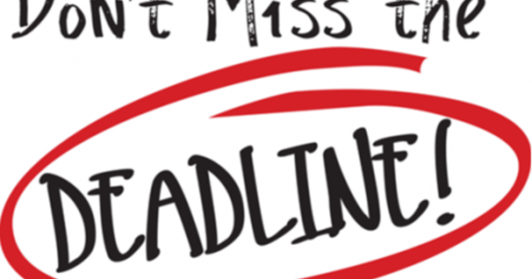 Deadlines for college applications