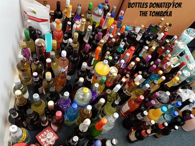 Bottles donated for the tomoba