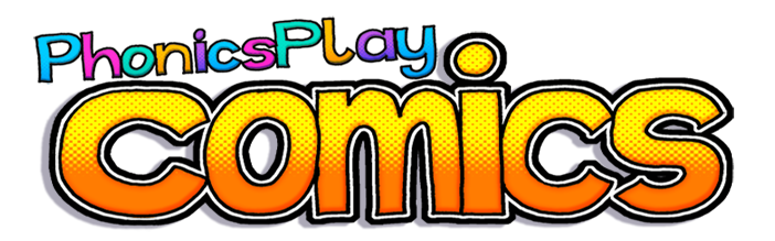 Image result for phonics play comics logo