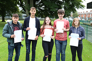 Pupils receive GCSE results