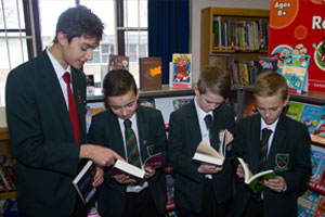 Pupils at Book Fair
