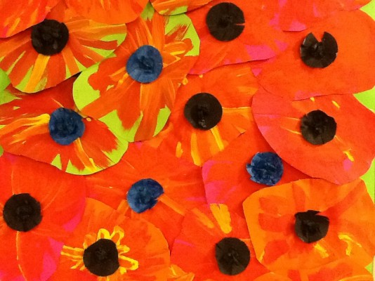 Poppies In The Style Of Georgia O Keefe For Remembrance