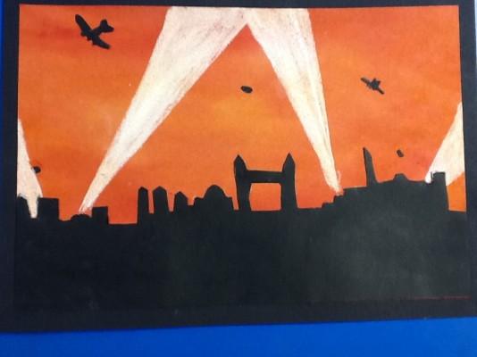 Fantastic Blitz Artwork In Year Six St Hugh Of Lincoln