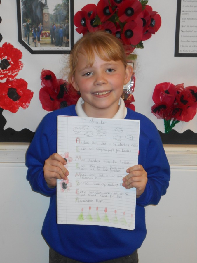 Year 3/4 - Remembrance Day Acrostic Poems | Walmsley C E