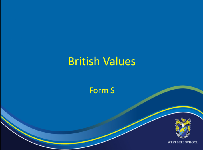 Power point on British Values prepared by the pupils