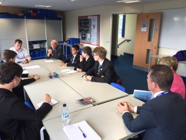 Picture of the Student Council meeting with members of SLT