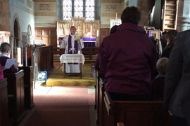 Ash Wednesday service at St Luke's Church