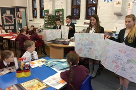 St Thomas' School Pupil Ethos Team came to ask Winmarleigh children some big questions